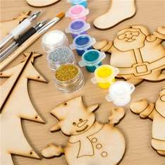 Handcrafted Christmas decs 64% off original price Plus included clearance items 3 for 2 deal & £1 postage @ Create & craft