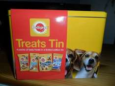 Tesco online and instorePedigree Treats Tin for dogs Down from £5.00 to £3.00