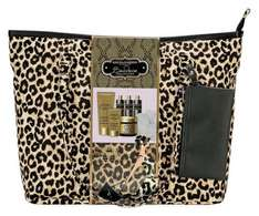 Baylis and Harding leopard print weekend bag with 6 full size black orchid products, sponge and toilet bag now £9.99 delivered @ eBay sold by Argos