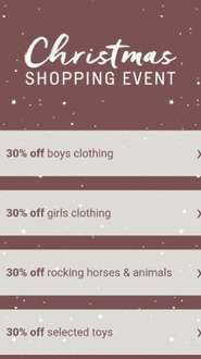 30% off + 5.5% Quidco @ Mama's & Papa's  (discount off Clothes, toys and gifts)