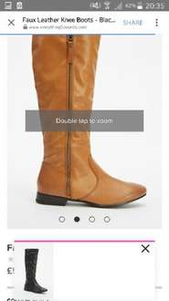 Faux leather boots £8.95 delivered @everythings5pounds