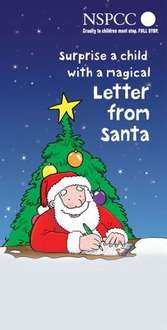Make a child's Christmas even more magical and support the NSPCC with a personalised letter from Santa.