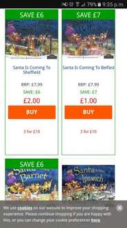 Santas sleigh is coming to (town city) hardback book 2.00 @ the works online and instore