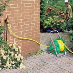 Hozelock 30m hose on 60m hose reel plus connectors £32.90 inc delivery @ GardenEssentials (£27.90 advertised price, with free delivery if spending over £50)
