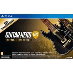 Guitar Hero Live - Supreme Party Edition Ps4 (game & 2 Guitar controllers) £24.99 @ GAME