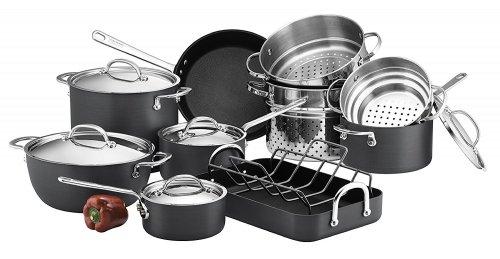 Circulon Infinite Hard Anodised Cookware Set, 5-Piece £134.99 / 10 Piece £199.99 @ Amazon