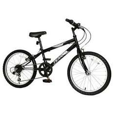 "Brand New Terrain Hallam 20"" Wheel Kids Mountain Bike Black 14"" Steel Frame @ tesco ebay for £55"