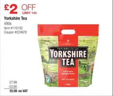 Yorkshire Tea 480 Teabags for £5.99 @ Costco IN-STORE (National Deal)