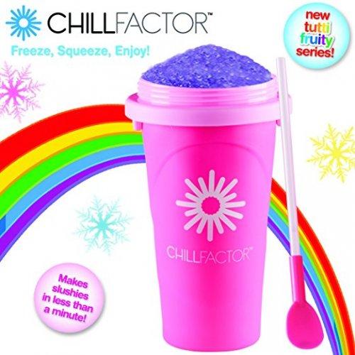 ChillFactor Tutti Fruity Slushy Maker Pink - £7.99 (Prime) £11.98 (Non Prime) @ Amazon