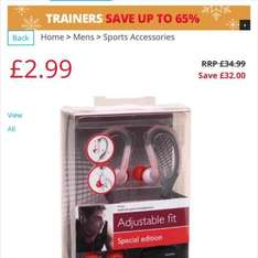 Philips Ear Hook Sports Headphones Grey (SAVE £32!!!) at MandMDirect for £2.99 + £4.49 delivery - £7.48