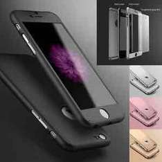 New Hybrid 360° Hard Ultra thin Case + Tempered Glass Cover For various iPhones with free delivery. - 99p timy786 / Ebay