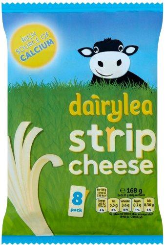 Dairylea Strip Cheese (8 = 168g) was £2.50 now £1.50 @ Sainsbury's