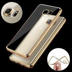 ShockProof Silicone Bumper Clear Slim Case Cover for Samsung Galaxy S7 Edge 99p @ timy786 / Ebay