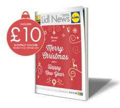 Lidl £10 off £50 spend. Vouchers with The Sun, Daily Mail, Daily Telegraph, OK! Magazine, Daily Record on Saturday 19th December