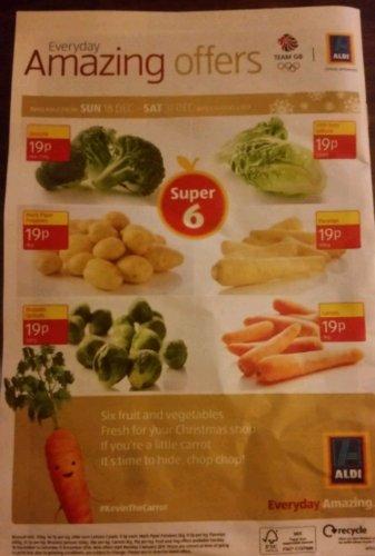 Aldi super 6 19p finally a proper deal especially for the potatoes
