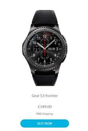 Samsung Gear S3 Frontier delivered - £349 @ Samsung