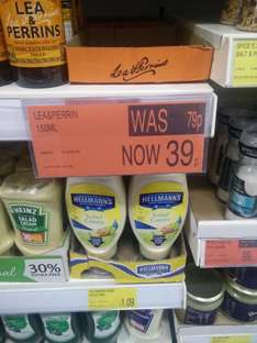 Lea & perrin's worcester sauce 39p for 150ml @ B&M