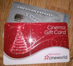 33% discount at Cineworld with AmEx card (works on top of Unlimited card discount on food and drink) @ Cineworld