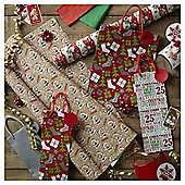 Cute Bear Christmas Wrapping Paper and Accessories Pack - Half Price at Tesco - £5