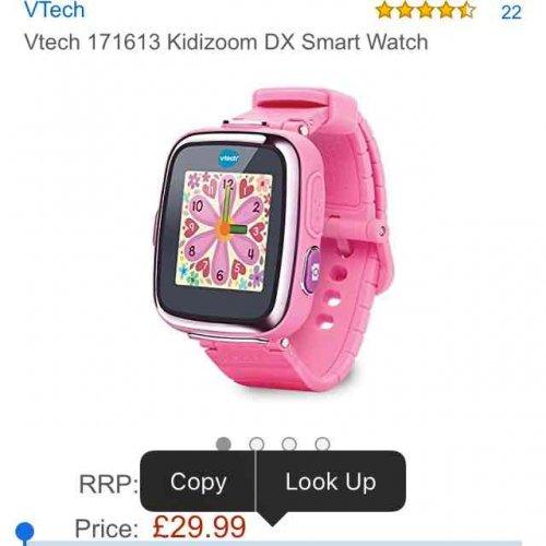Vtech Pink Kidizoom DX Smart Watch £29.99 @ Amazon delivered