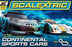 Scalextric Continental Sports car set Amazon £49.95 (Sold by Hawkin's Bazaar and Fulfilled by Amazon)