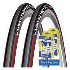 Michelin Pro 3 Tyres + Tubes Reduced from £77.96 to £29.99 at Chain Reaction Cycles