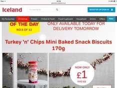 Turkey 'n' Chips mini baked snack biscuits - £1.00 instore @ Iceland