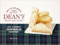 Dean's Shortbread Assortment 360G Half price £2 instead of £4 @ Tesco Groceries on-line or in-store