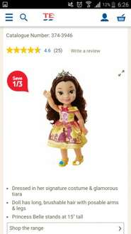 My first Disney Princess Belle toddler doll £7.26 at Tesco