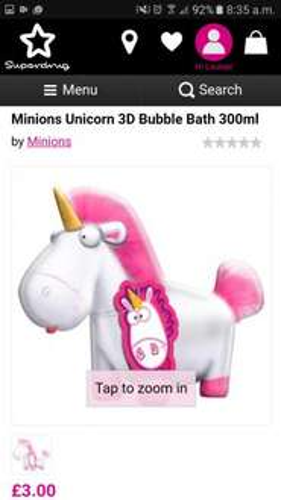 Superdr ugly unicorn minion bubble bath £3 (was7) free c + c