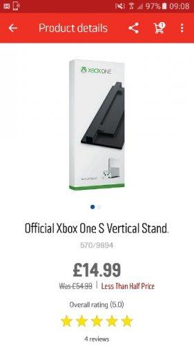 Xbox One S Vertical Stand £14.99 Was £54.99 Argos