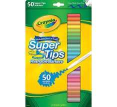 Crayola-super-tips-washable-marker-pens-50-pack. Free C&C