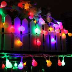 waterproof Christmas 100 led light balls mixed colors,10m £12.99  (Prime) / £16.98 (non Prime)  Sold by Viitop.eu and Fulfilled by Amazon