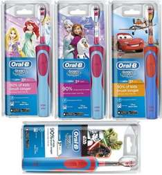Oral-B Stages Power Kids Electric Toothbrushes, Disney & Star Wars @ Amazon £14.49 (Prime) £18.48 (Non-Prime)