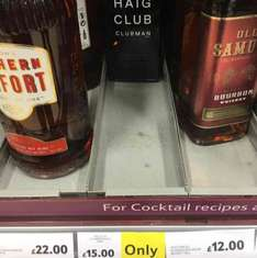Haig club Clubman whisky 700ml £15 Tesco