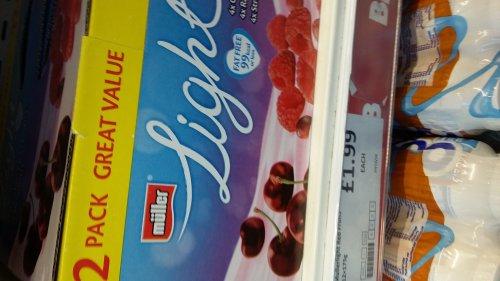 Pack 12 muller light yoghurts Heron foods £1.99