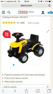 JCB Ride On Tractor down to £8.54 at Tesco (previously £12.95)