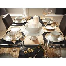 Wilko Dinner Set 12pc Sparkle Gold ~ ideal for the festive season - £15 (Free C&C)