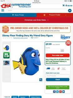 Finding Dory - my friend Dory instore at Cardiff Entertainer for £9.99 WAS £49.99