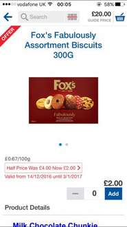 Fox's Fabulously Assortment Biscuits 300G - Half price - £2 @ Tesco