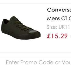Sold out - Mens Converse CT OX Lo Trainers in Khaki possible glitch showing up as £15.29 in checkout, plus delivery cost £3.95 (free del over £60) sizes 7-11 available @ get the label