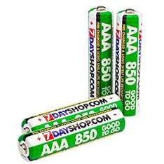 8 (2 packs of 4) AAA 850mAh NiMh 7dayshop rechargeable low drain batteries £4.58 delivered (2 x £2.79 - £1 discount for 2 packs): 7dayshop @Amazon