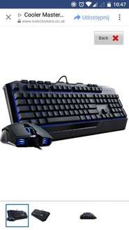 cm keyboard plus mouse bundle at Overclockers for £23.99 + £7.39 delivery - £31.38