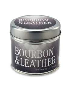 Candle for the discerning gentleman: Bourbon & Leather scent £2.99 @ Aldi