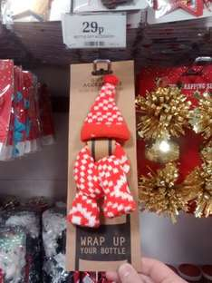 Christmas Bottle Hat &  Scarf 29p Home Bargains