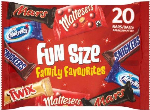 Mars Variety Funsize 20 Pack (358g) was £3.50 now £2.52 @ Waitrose