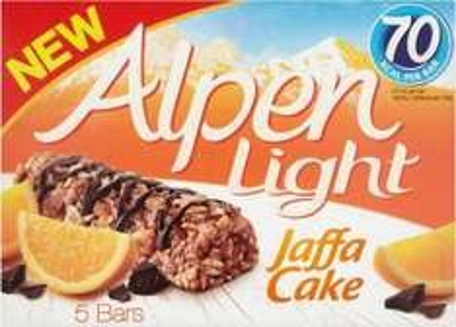 Alpen Light Jaffa Cake Cereal Bars (5 x 19g) was £2.00 now £1.00 @ Morrisons