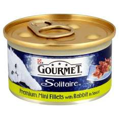 Gourmet Solitaire Premium Fillets with Rabbit in Sauce (85g) was 90p now any 8 for £3.00 (37p per tin)@ Tesco