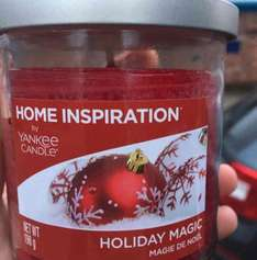 Yankee Candle Home Inspirations - selected Christmas candles £6 each at Tesco and still scanning at 3 for 2 (so now £4 each if you buy 3). nice stocking filler!