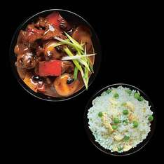 Chinese takeaway meal deal (2 mains and 3 sides) for £10 at M&S